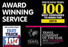 Sunday Times 100 Best Companies to Work For 2012. The British Travel Awards 2012. Travel Company of The Year 2012 Winner