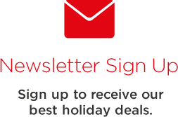 Sign up to receive our best holiday deals