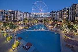 Middle East Holidays - UAE, Dubai - Caesars Resort Bluewaters - Main Swiming Pool Evening View