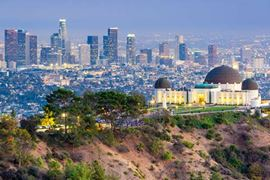 USA Holidays - Amazing high view of Los Angeles Cityscape