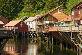 USA Holidays - Ketchikan Wooden houses - Alaska Holidays