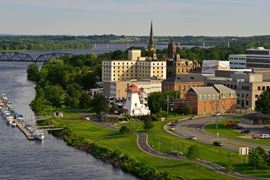 Canada Holidays - New Brunswick - Fredericton - city skyline