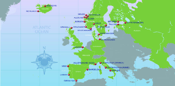 Mediterranean Cruises Disney Cruise Lines Barrhead Travel