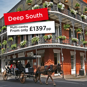 Holiday choices and destinations in the Deep South, USA