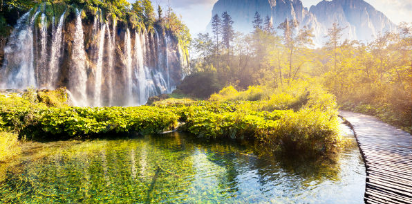 Plitvice National Park of Croatia